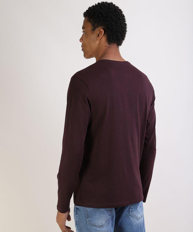 Camiseta-Masculina-Basica-Comfort-Fit-Manga-Longa-Gola-Careca--Vinho-9826872-Vinho_2
