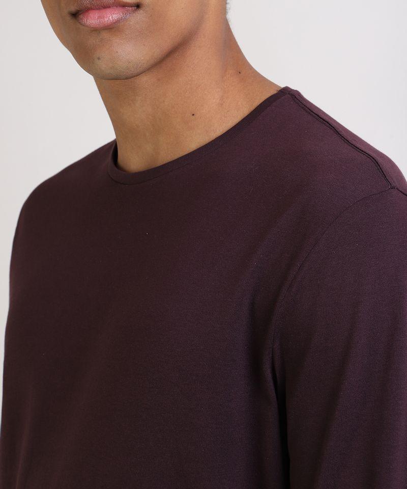 Camiseta-Masculina-Basica-Comfort-Fit-Manga-Longa-Gola-Careca--Vinho-9826872-Vinho_4