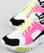 Tenis-Feminino-de-Neoprene-Oneself-Sneaker-Chunky-Color-Block-Neon-Branco-9906436-Branco_3