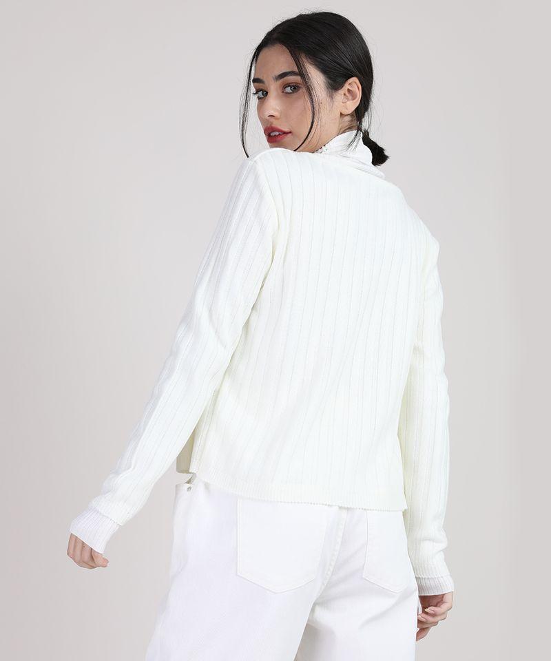 Cardigan-de-Trico-Feminino-Canelado-com-Perolas-Decote-Redondo-Off-White-9942029-Off_White_3