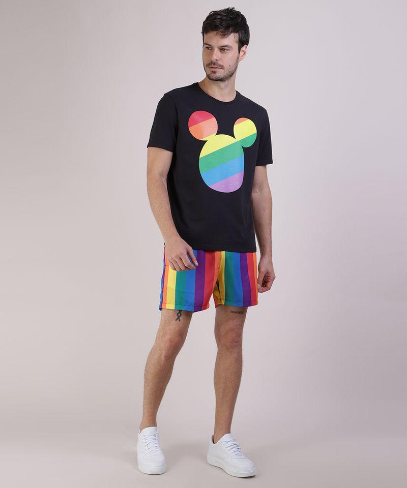 Camiseta-Masculina-Pride-Mickey-Arco-Iris-Manga-Curta-Gola-Careca-Preta-9585822-Preto_3