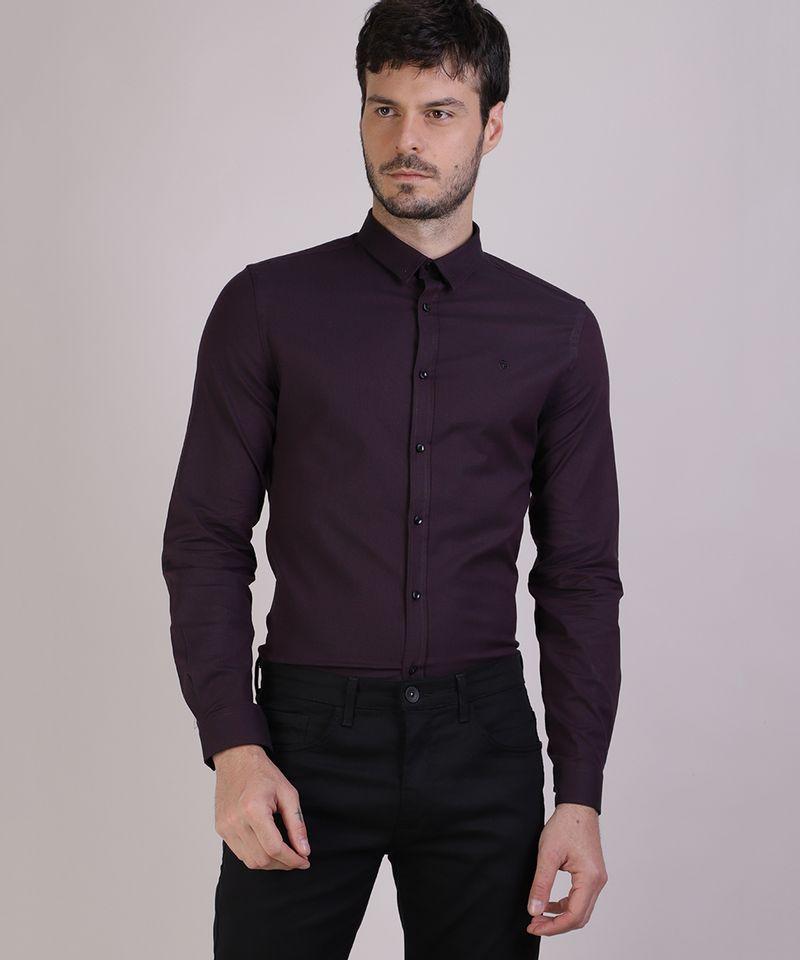 Camisa-Masculina-Slim-Manga-Longa-Preta-9817474-Preto_1