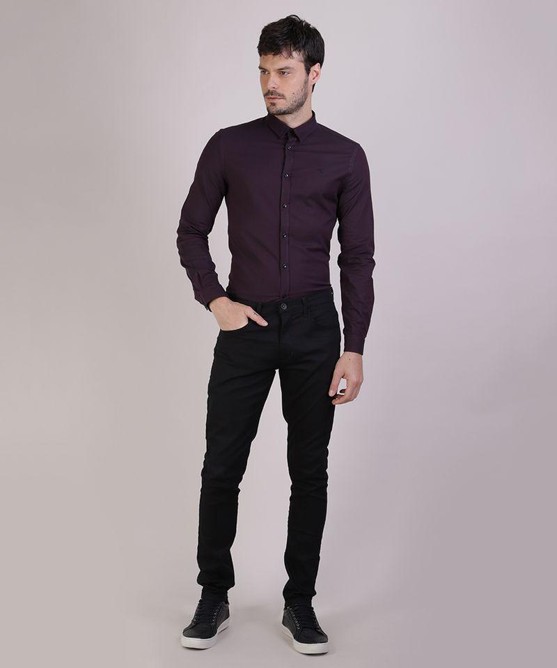 Camisa-Masculina-Slim-Manga-Longa-Preta-9817474-Preto_3