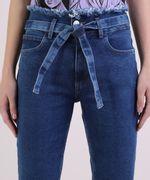 Calca-Jeans-Feminina-Skinny-Clochard-Cintura-Super-Alta-com-Faixa-Para-Amarracao-Azul-Escuro-9950643-Azul_Escuro_4