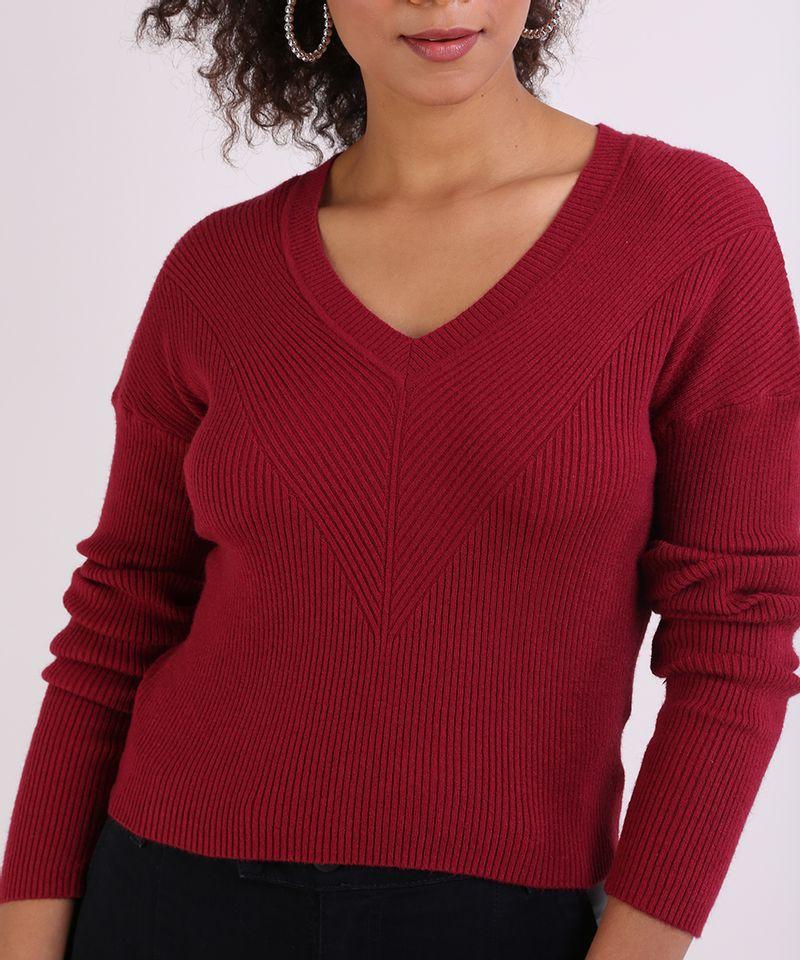 Sueter-em-Trico-Feminino-Basico-Cropped-Texturizado-Vermelho-9798091-Vermelho_4