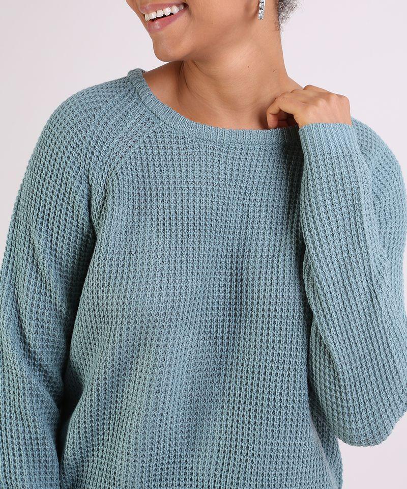 Sueter-Feminino-em-Trico--Decote-Redondo--Azul-9798092-Azul_4