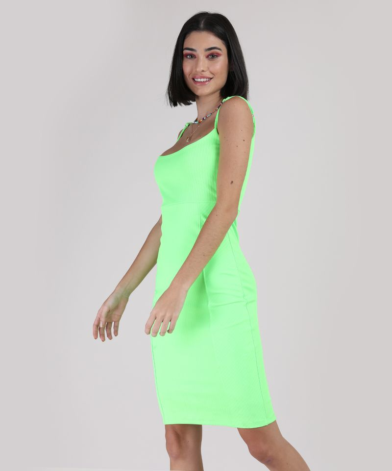 Vestido-Feminino-Curto-Canelado-Alca-Fina-Verde-Neon-9777576-Verde_Neon_1