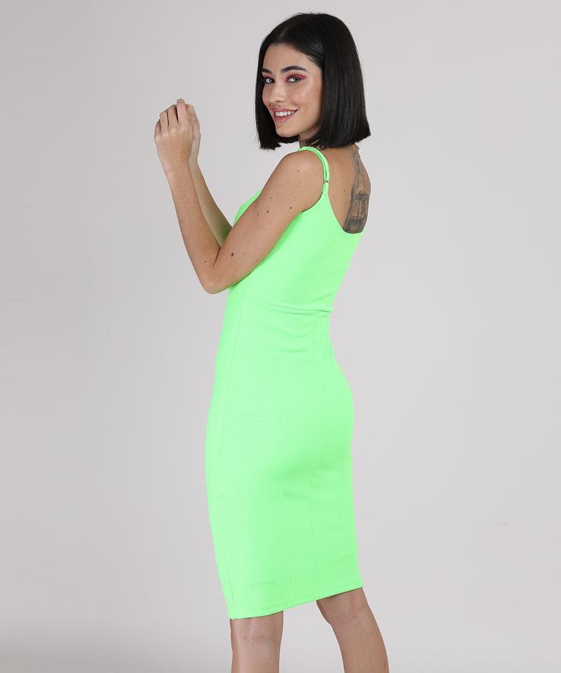 Vestido-Feminino-Curto-Canelado-Alca-Fina-Verde-Neon-9777576-Verde_Neon_2
