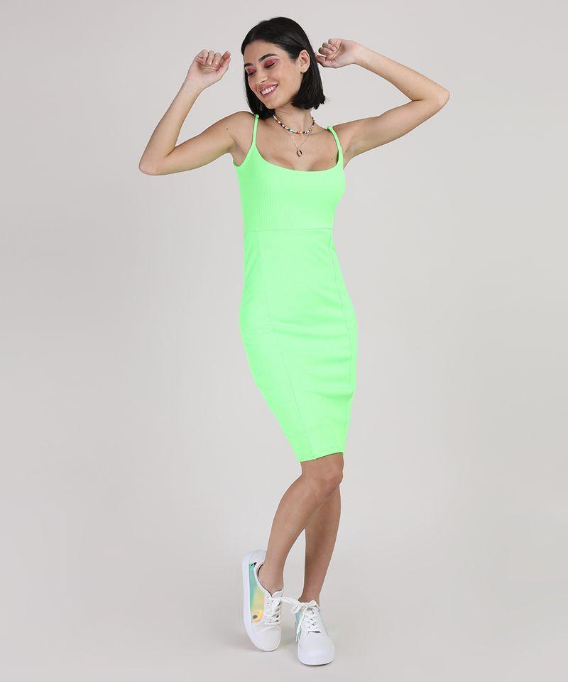 Vestido-Feminino-Curto-Canelado-Alca-Fina-Verde-Neon-9777576-Verde_Neon_3