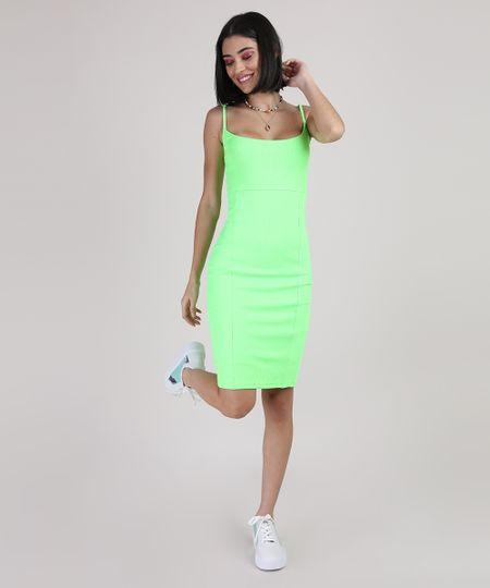 Vestido-Feminino-Curto-Canelado-Alca-Fina-Verde-Neon-9777576-Verde_Neon_6