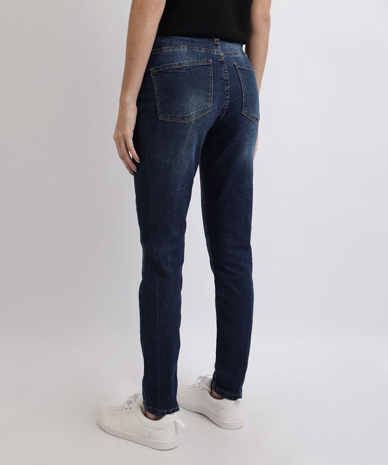 Calca-Jeans-Feminina-Cigarrete-Cintura-Alta-Azul-Medio-9949330-Azul_Medio_2