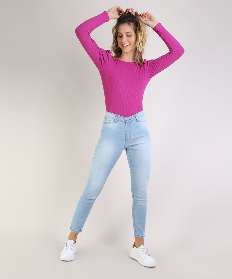 Calca-Jeans-Feminina-Cigarrete-Cintura-Media-Azul-Claro-9936228-Azul_Claro_3
