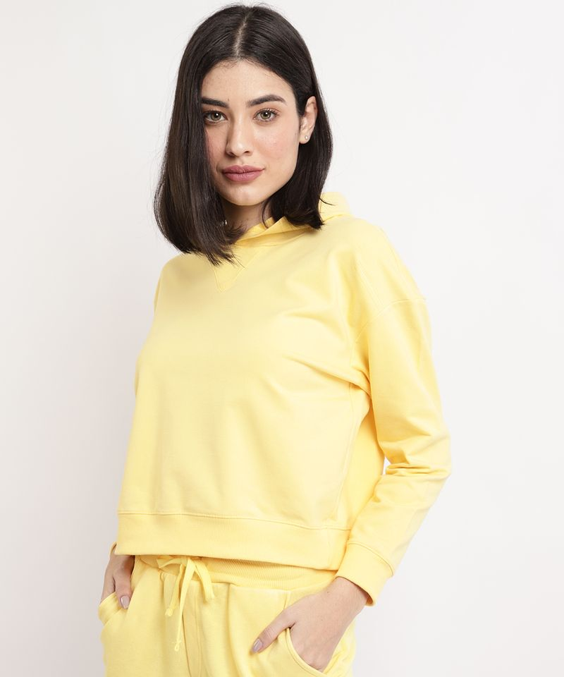 Blusao-de-Moletom-Feminino-Basico-Cropped-com-Capuz-Amarelo-9941971-Amarelo_1