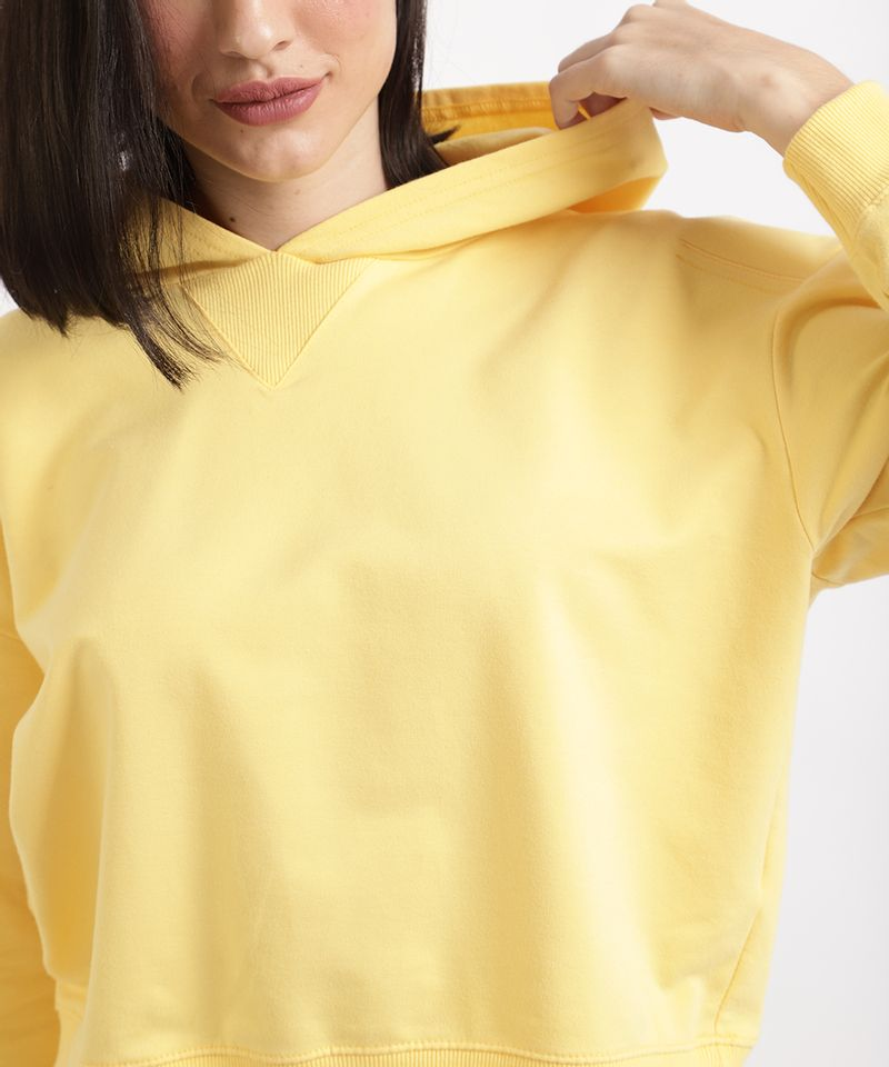 Blusao-de-Moletom-Feminino-Basico-Cropped-com-Capuz-Amarelo-9941971-Amarelo_4