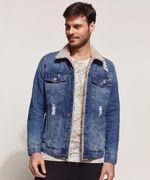 Jaqueta Jeans Masculina com Pelo Frente