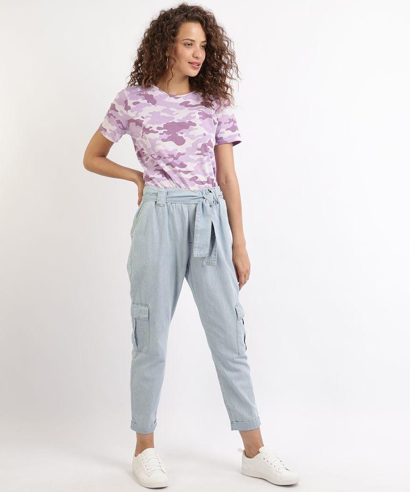 Calca-Jeans-Feminina-Jogger-Cargo-com-Faixa-para-Amarrar-Azul-9961389-Azul_3