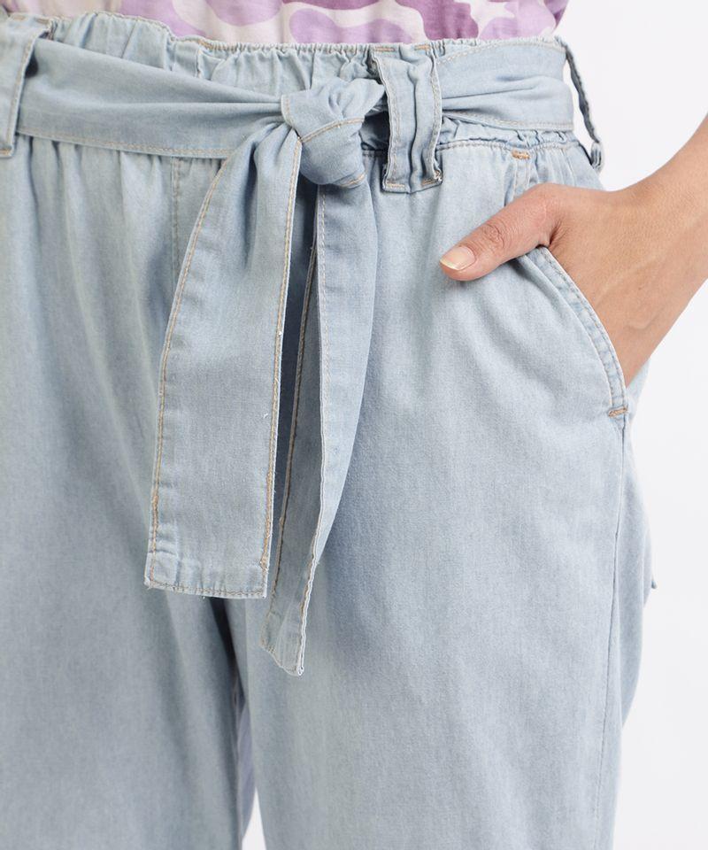 Calca-Jeans-Feminina-Jogger-Cargo-com-Faixa-para-Amarrar-Azul-9961389-Azul_4