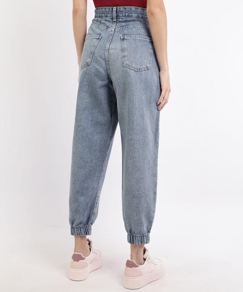 Calca-Jeans-Feminina-Jogger-Cintura-Super-Alta-com-Bolsos-Azul-Medio-9964129-Azul_Medio_2