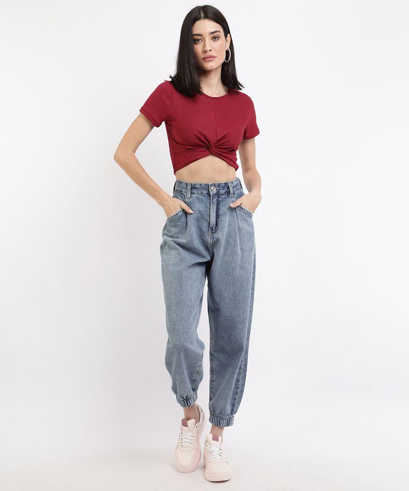 Calca-Jeans-Feminina-Jogger-Cintura-Super-Alta-com-Bolsos-Azul-Medio-9964129-Azul_Medio_3