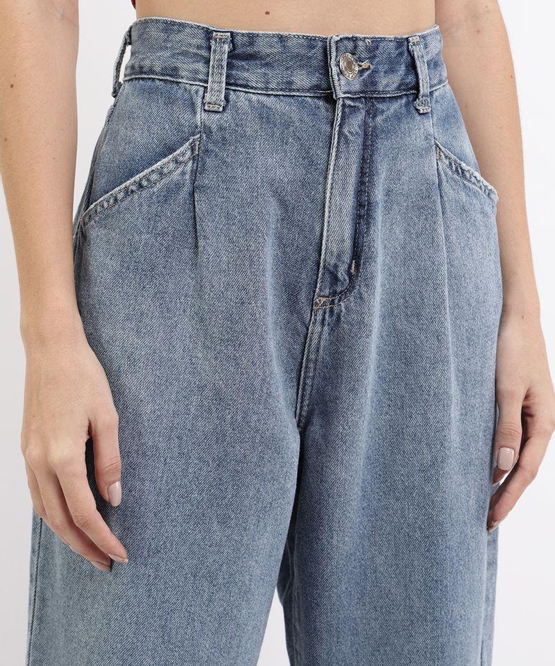 Calca-Jeans-Feminina-Jogger-Cintura-Super-Alta-com-Bolsos-Azul-Medio-9964129-Azul_Medio_4