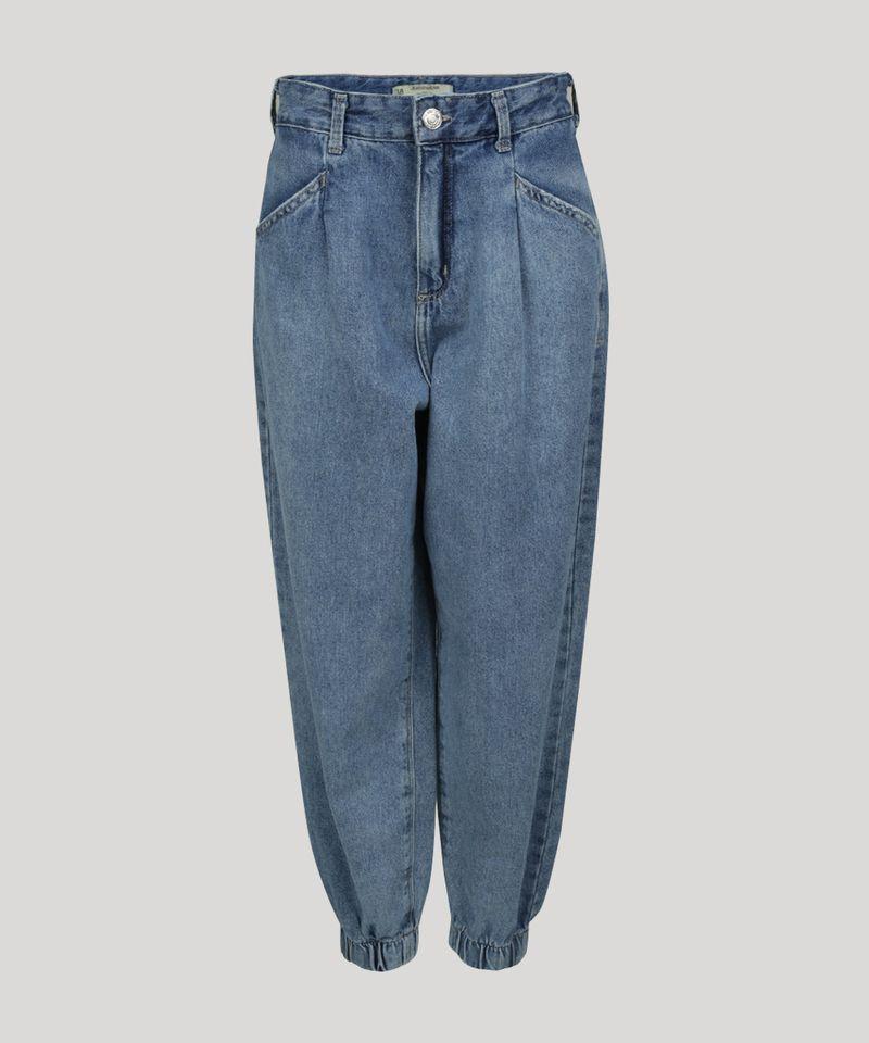 Calca-Jeans-Feminina-Jogger-Cintura-Super-Alta-com-Bolsos-Azul-Medio-9964129-Azul_Medio_5