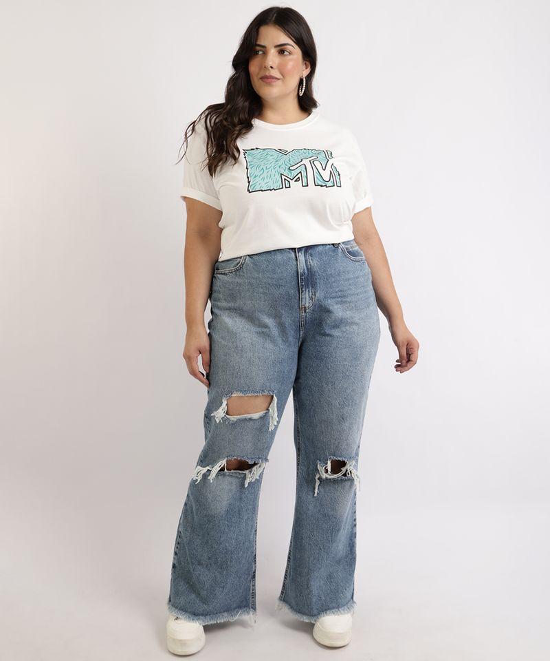Calca-Jeans-Feminina-Plus-Size-Wide-Pantalona-Cintura-Super-Alta-Destroyed-com-Barra-Desfiada-Azul-Medio-9965144-Azul_Medio_3