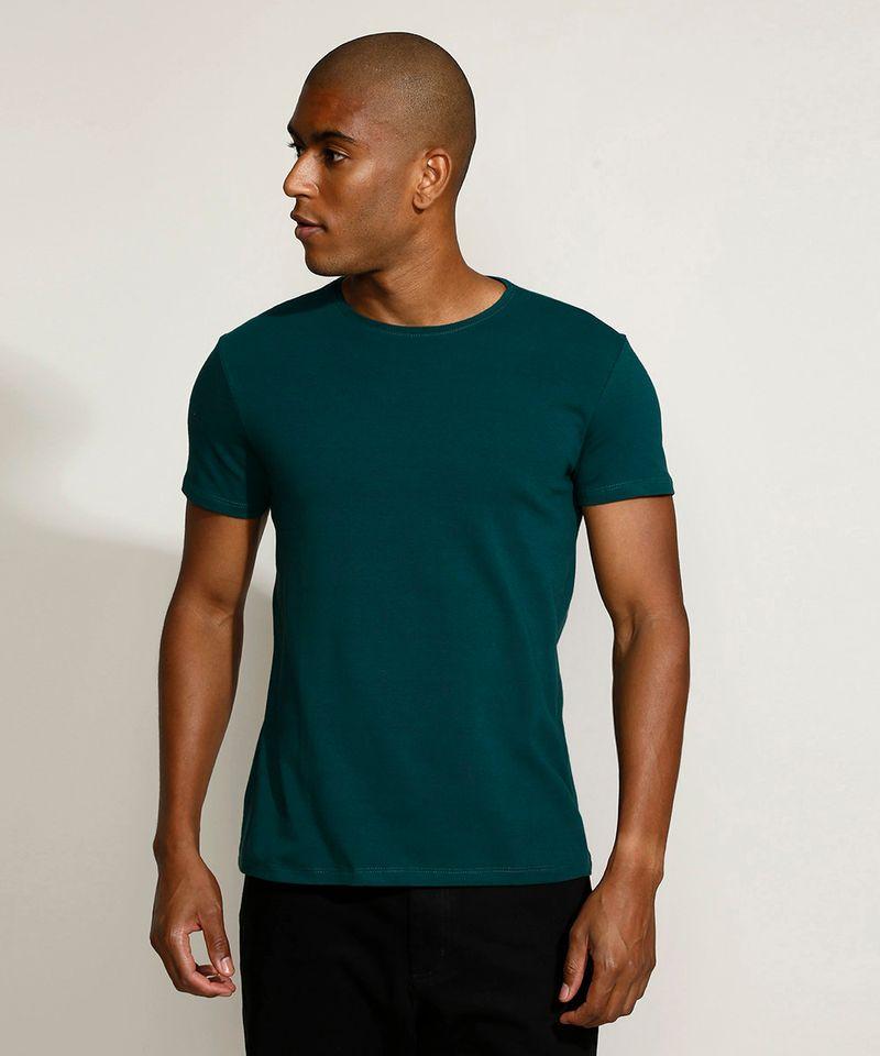 Camiseta-Masculina-Basica-Manga-Curta-Gola-Careca-Verde-Escuro-9209153-Verde_Escuro_1