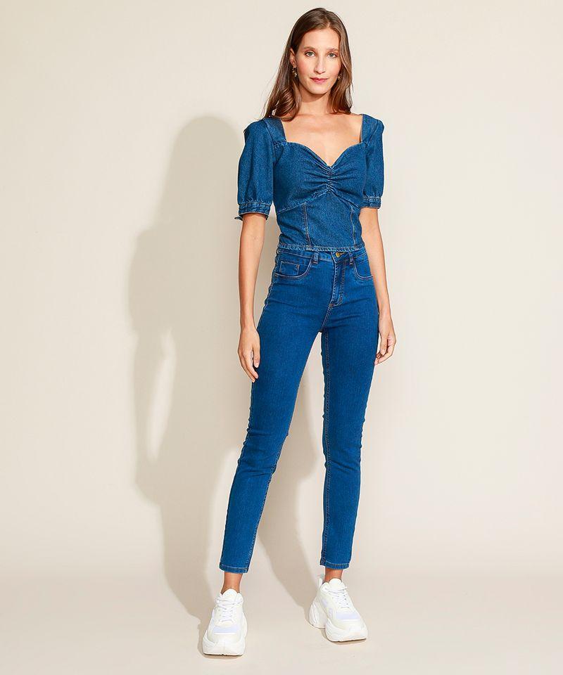 Calca-Jeans-Feminina-Sawary-Cigarrete-Cintura-Alta-com-Pences-Azul-Medio-9974032-Azul_Medio_3