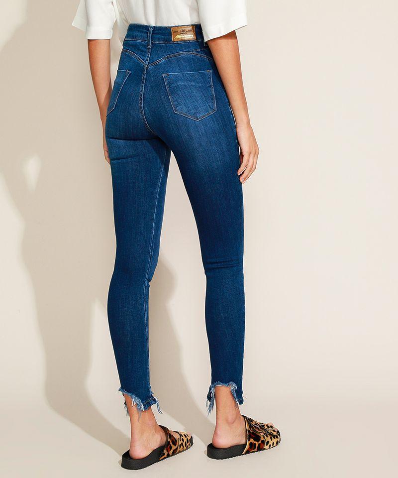 Calca-Jeans-Feminina-Sawary-Cigarrete-Push-Up-Cintura-Alta-com-Barra-Destroyed-Azul-Escuro-9974034-Azul_Escuro_2