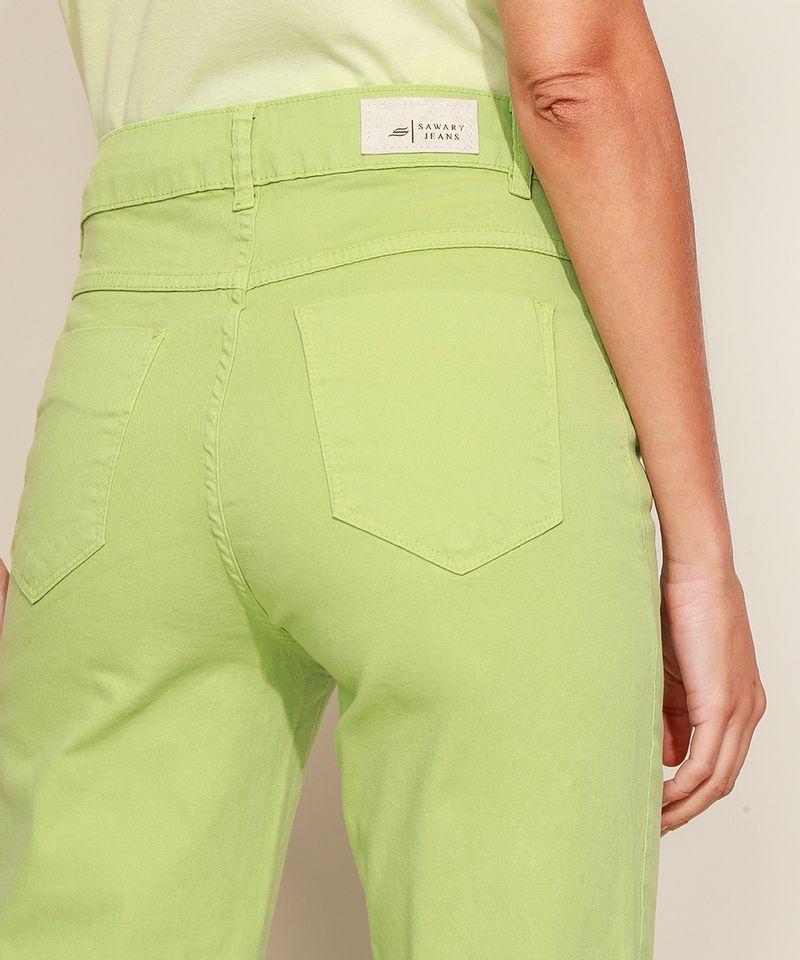 Calca-de-Sarja-Feminina-Sawary-Jogger-Cintura-Alta-Verde-9974038-Verde_5