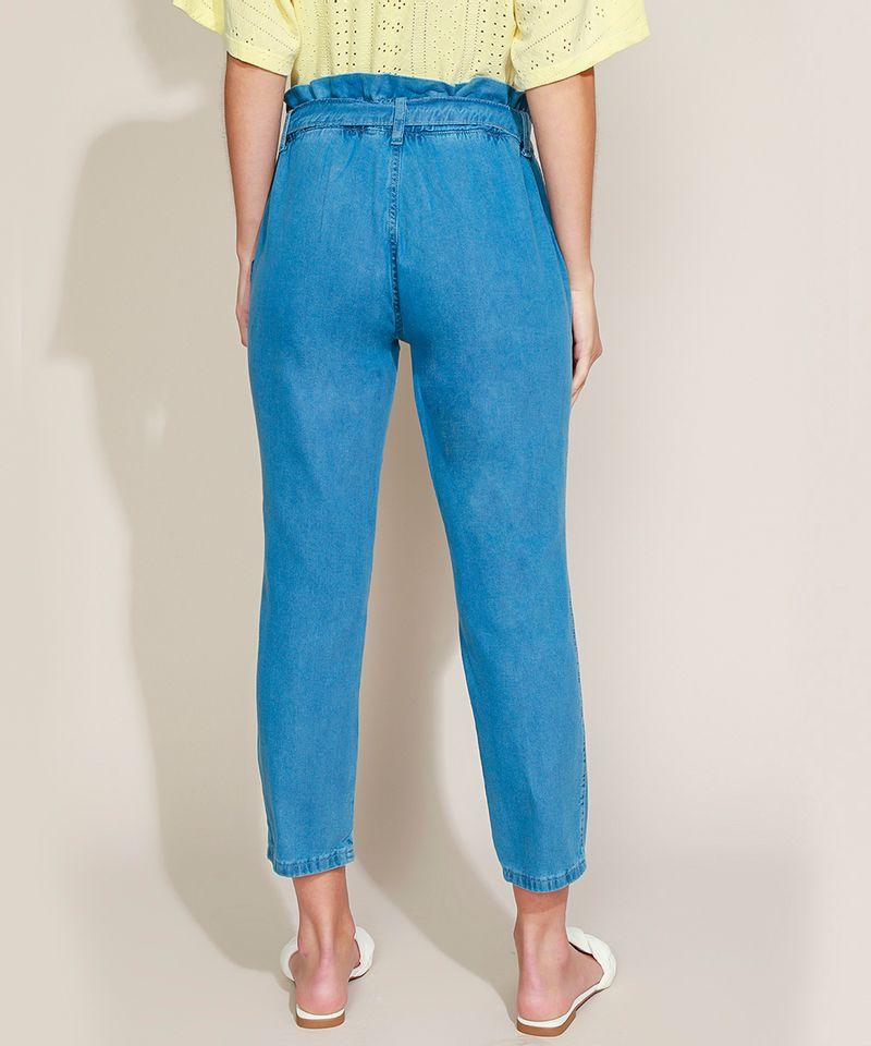 Calca-Jeans-Feminina-Clochard-Cintura-Super-Alta-com-Cinto-Azul-Medio-9945834-Azul_Medio_2