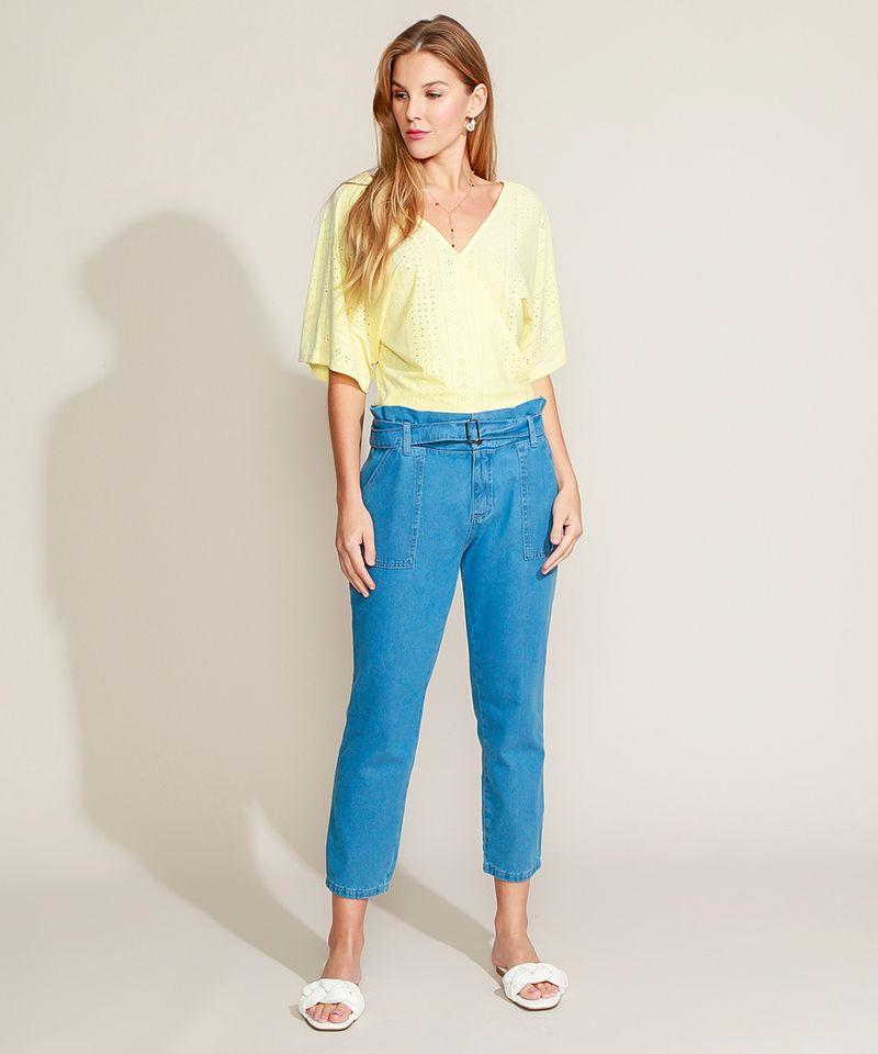 Calca-Jeans-Feminina-Clochard-Cintura-Super-Alta-com-Cinto-Azul-Medio-9945834-Azul_Medio_3