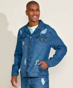 Jaqueta-Jeans-Masculina-Trucker-Destroyed--The-Future-is-Ours--com-Certificacao-C2C™-Azul-Medio-9957128-Azul_Medio_1