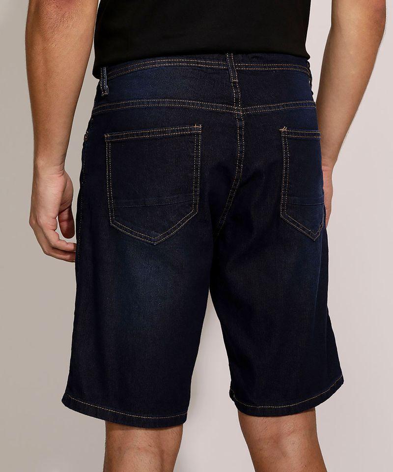 Bermuda-Jeans-Masculina-Slim-com-Bolsos-Azul-Escuro-9963662-Azul_Escuro_2