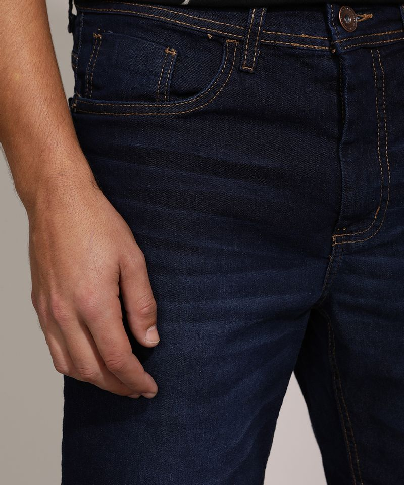 Bermuda-Jeans-Masculina-Slim-com-Bolsos-Azul-Escuro-9963662-Azul_Escuro_4