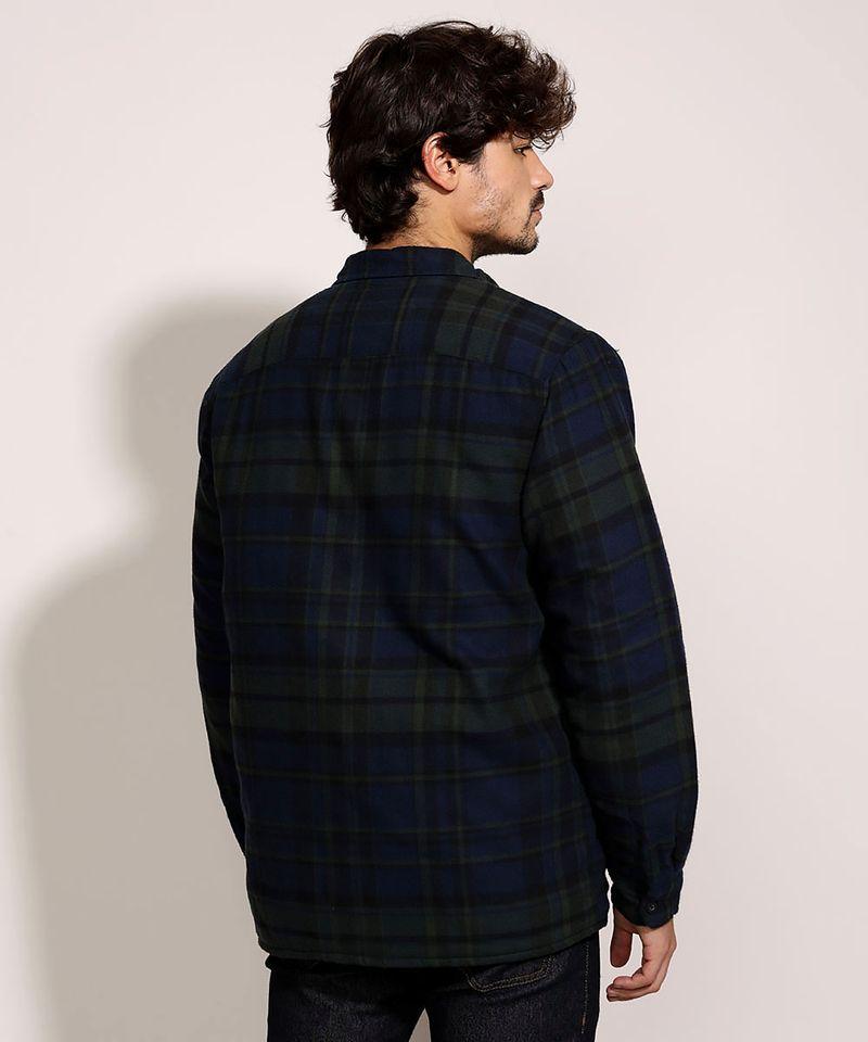 Camisa-de-Flanela-Masculina-Overshirt-Estampada-Xadrez-Manga-Longa-Azul-Marinho-9812199-Azul_Marinho_2