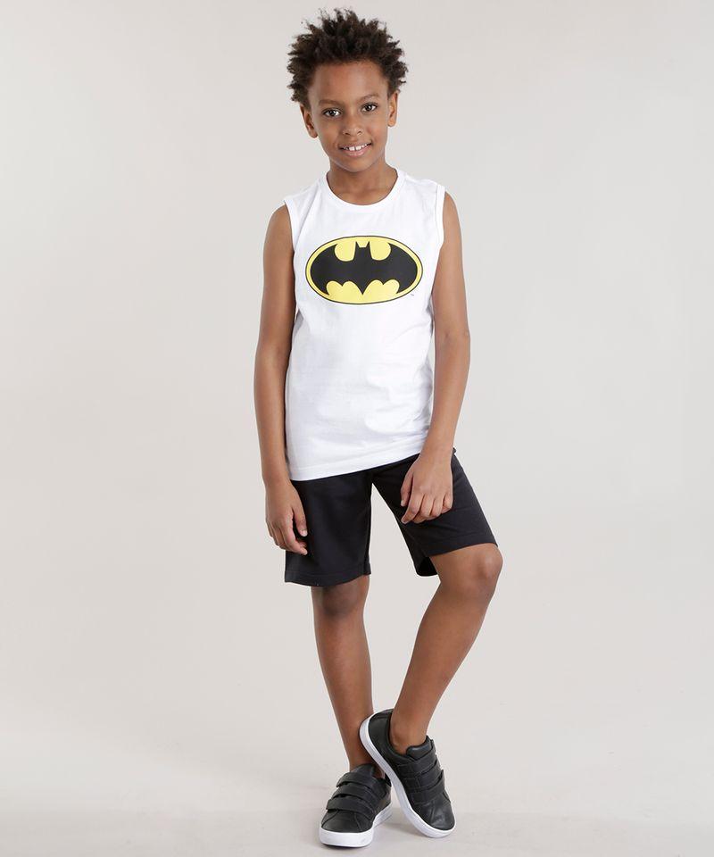 Conjunto-Batman-de-Regata-Branca---Bermuda-em-Moletom-Preta-8484293-Preto_1
