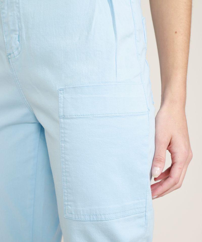 Calca-Feminina-Sawary-Clochard-Cintura-Alta-com-Cinto-Azul-Claro-9969416-Azul_Claro_5
