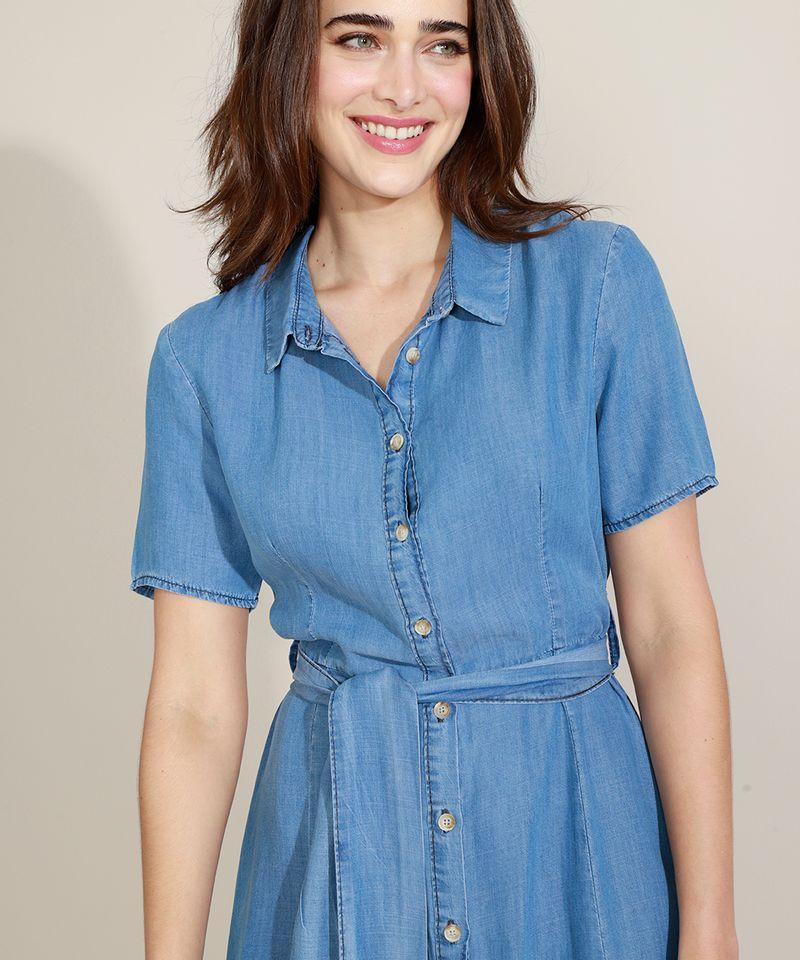 Vestido-Chemise-Jeans-Feminino-Mindset-Longo-com-Faixa-para-Amarrar-Manga-Curta-Azul-Medio-9721627-Azul_Medio_1_5