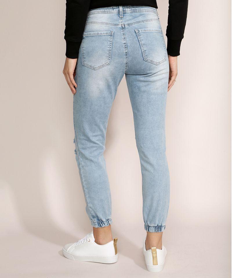 Calca-Jeans-Feminina-Jogger-Skinny-Destroyed-Cintura-Media-Azul-Claro-9964633-Azul_Claro_2