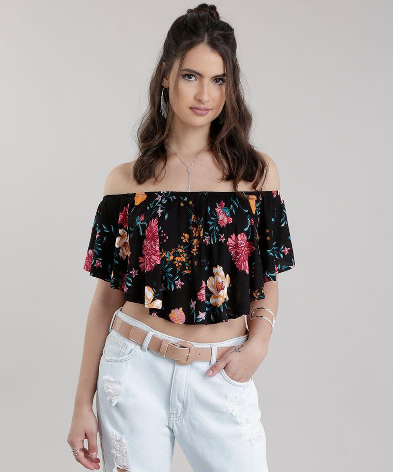 Blusa-Cropped-Ombro-a-Ombro-Estampado-Floral-Preta-8762121-Preto_1