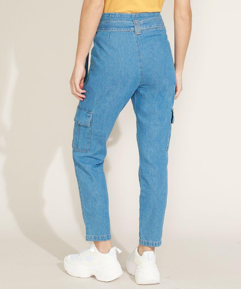Calca-Jeans-Feminina-Clochard-Cargo-Cintura-Super-Alta-com-Faixa-para-Amarrar-Azul-Medio-9964754-Azul_Medio_2