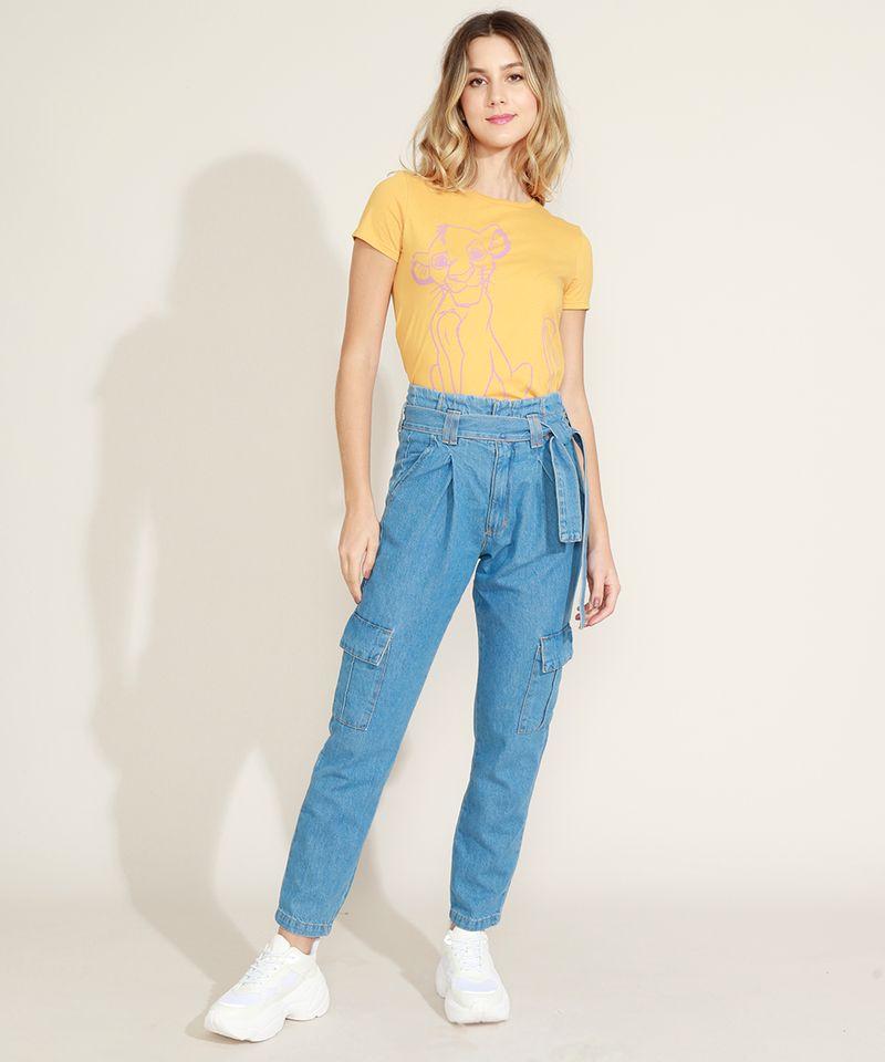 Calca-Jeans-Feminina-Clochard-Cargo-Cintura-Super-Alta-com-Faixa-para-Amarrar-Azul-Medio-9964754-Azul_Medio_3