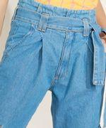 Calca-Jeans-Feminina-Clochard-Cargo-Cintura-Super-Alta-com-Faixa-para-Amarrar-Azul-Medio-9964754-Azul_Medio_4