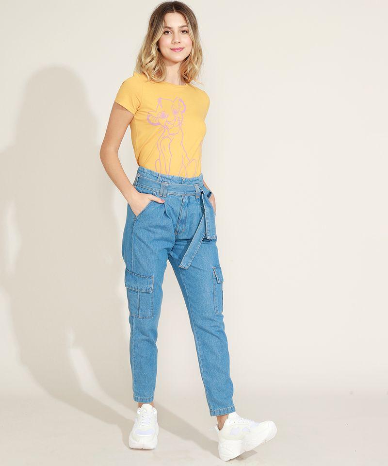 Calca-Jeans-Feminina-Clochard-Cargo-Cintura-Super-Alta-com-Faixa-para-Amarrar-Azul-Medio-9964754-Azul_Medio_5