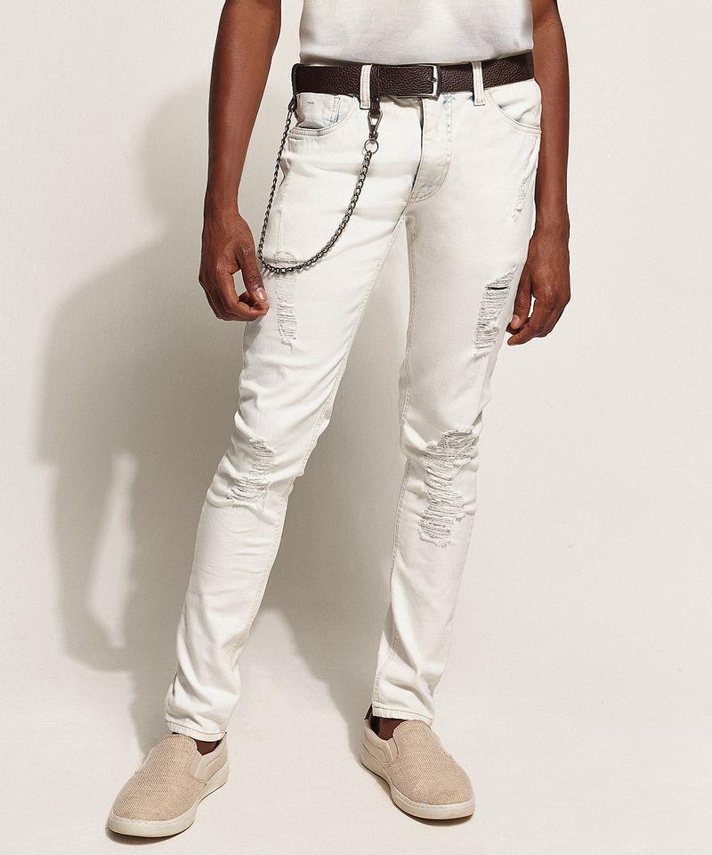 Calca-Jeans-Masculina-Super-Skinny-Destroyed-com-Cinto-e-Corrente-Azul-Claro-9966119-Azul_Claro_1