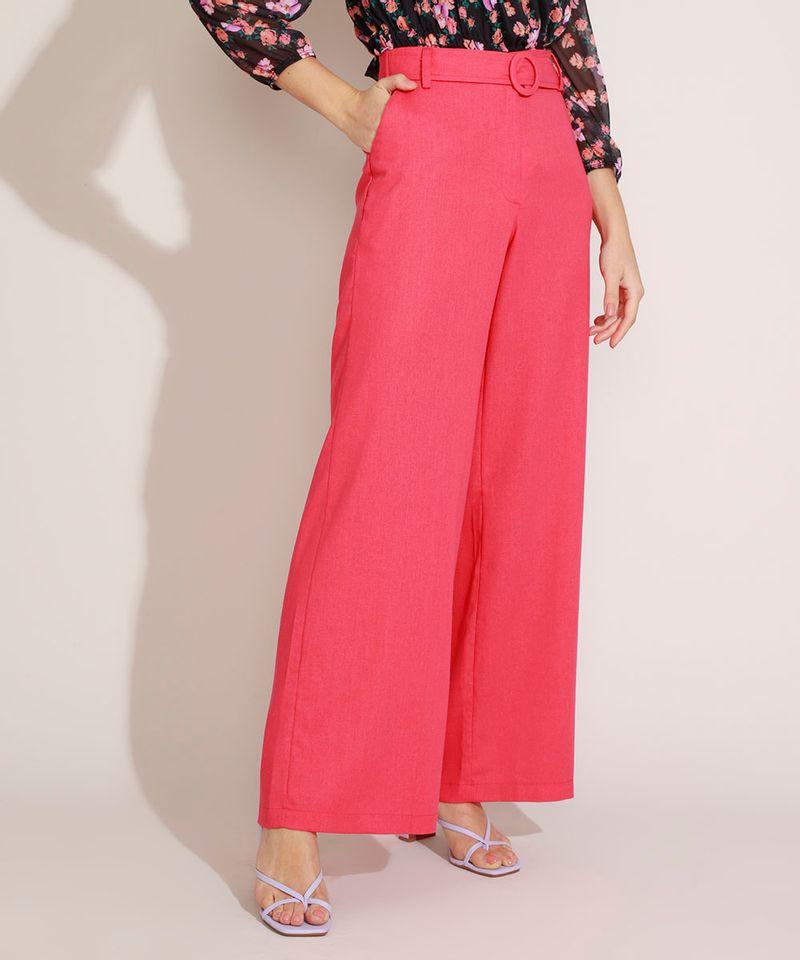 Calca-Feminina-com-Linho-Pantalona-Cintura-Super-Alta-e-Faixa-Rosa-Claro-9962524-Rosa_Claro_1