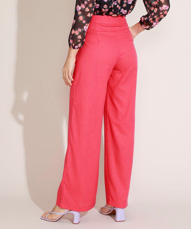 Calca-Feminina-com-Linho-Pantalona-Cintura-Super-Alta-e-Faixa-Rosa-Claro-9962524-Rosa_Claro_2