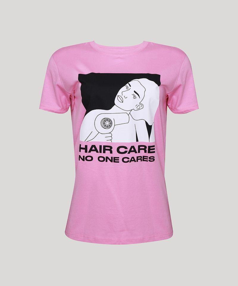 T-Shirt-Feminina-Mindset--Hair-Care--Manga-Curta-Decote-Redondo-Rosa-9974966-Rosa_6