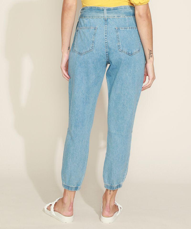 Calca-Jeans-Feminina-Jogger-Cintura-Media-com-Faixa-para-Amarrar-Azul-Claro-9971597-Azul_Claro_2